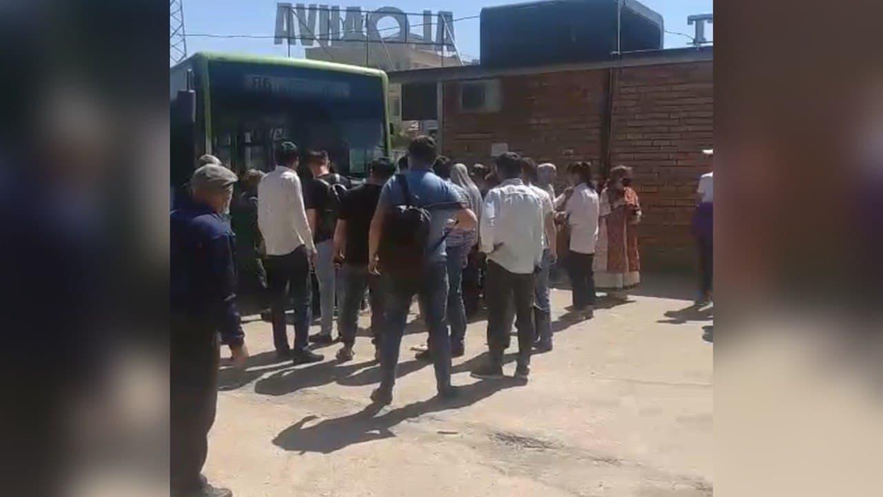 В Ташкенте автобус сбил двух пешеходов у остановки — видео