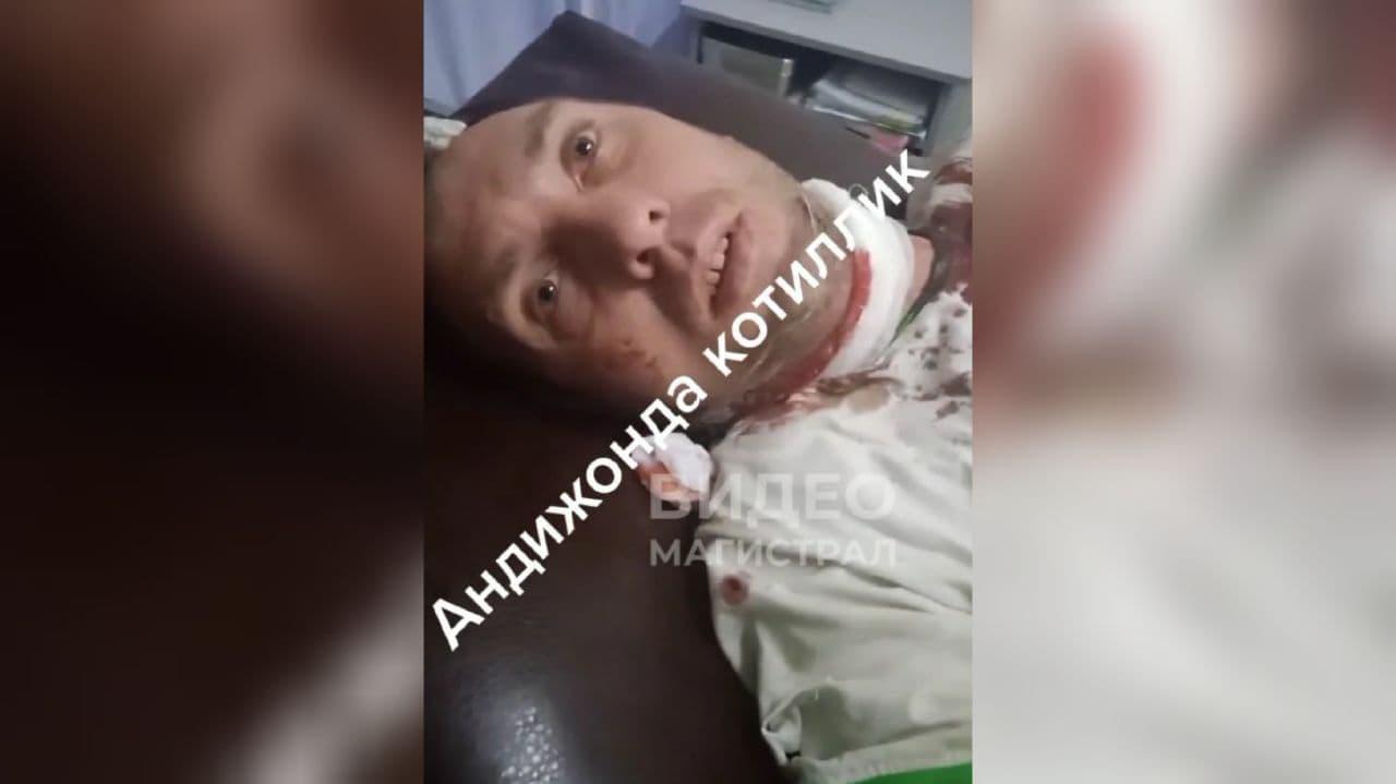 В Андижанской области мужчина ударил соседа ножом в горло – видео
