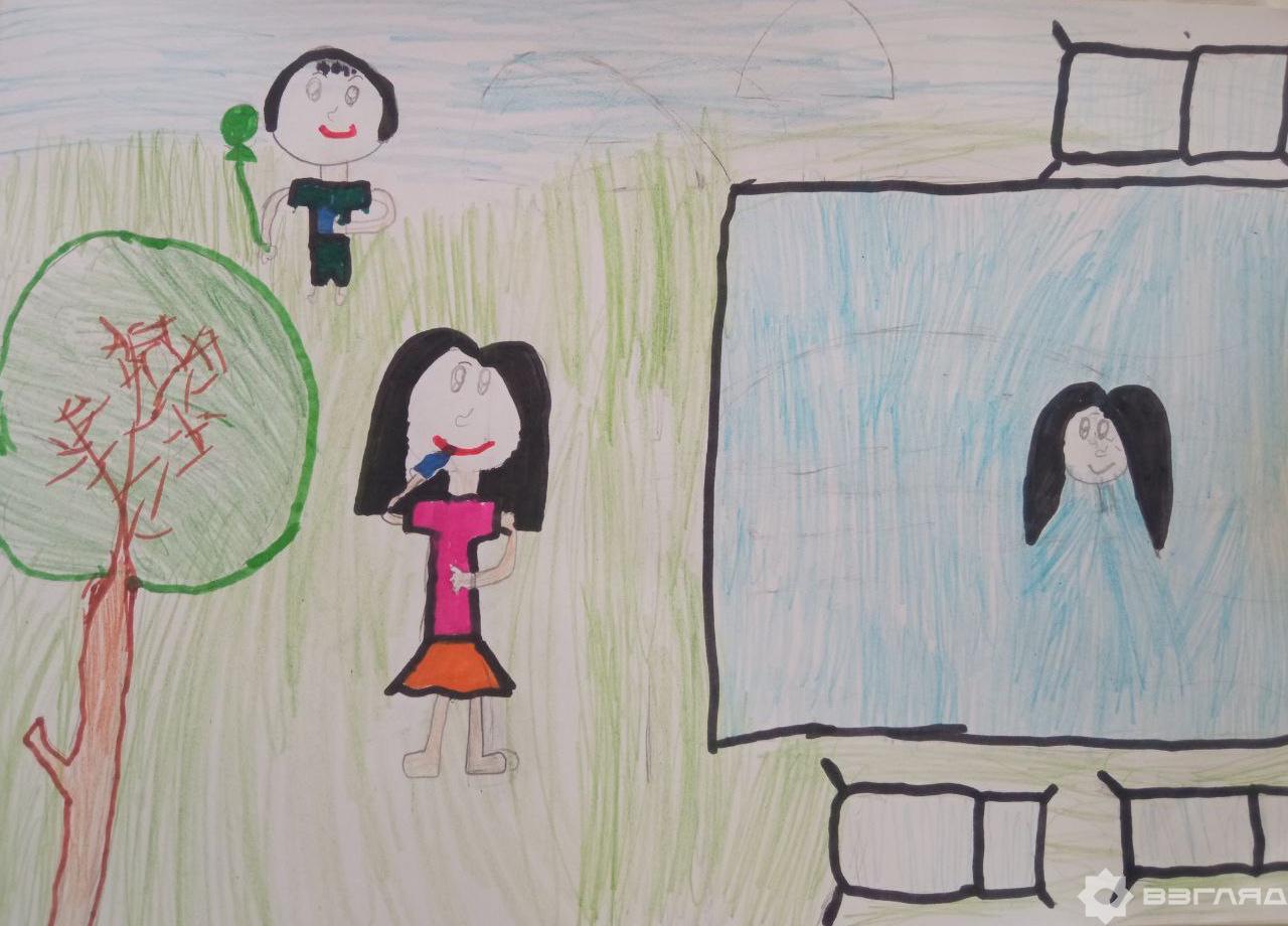 Лето-2021 в рисунках детей. Специально для читателей Взгляд.uz ученики младших классов рассказали о своих летних каникулах в картинках